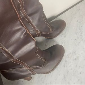 Aldo Brown faux leather boots